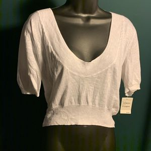 NWT Rubbish white very low scoop neck top (7/$35)